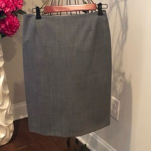 Stylish gray pencil skirt
